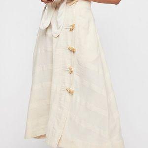 Free People Rosabella Midi skirt